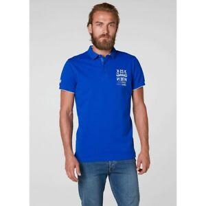 8e22b849b Helly Hansen Marstrand Men s Polo Shirt 53022 564 Olympian Blue NEW ...