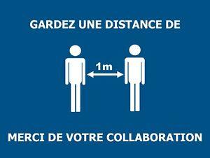 Garder-une-distance-de-1m-Poster-metal-15x20cm-Signaletique-de-securite-travail
