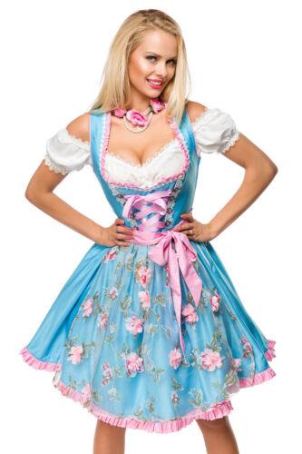 Dirndline Damen Dirndl 34 36 38 40 42 44 46 blau grün rosa Schürze Oktoberfest