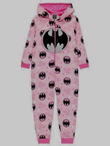 Le ragazze la Batgirl di DC Comics Con Cappuccio All in One Pigiama Glitter Taglia 4-14 anni
