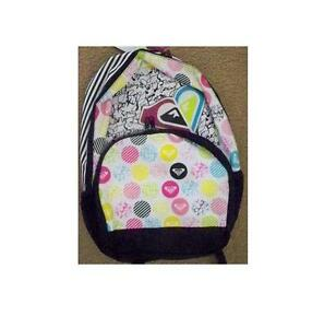 WOMEN/'S GIRLS ROXY SHADOW VIEW BACKPACK MULTI LOGO  SCHOOL BAG NEW $55