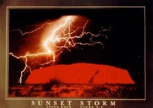 SUNSET STORM LIGHTNING AYERS ROCK (LAMINATED) POSTER (61x85cm) NEW LICENSED