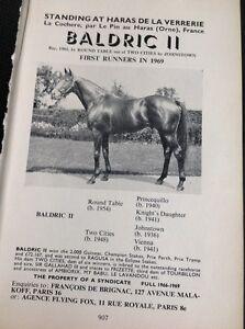 L1-3-Ephemera-1968-Advert-Horse-Racing-Baldric-Ii-Haras-De-La-Verrerie
