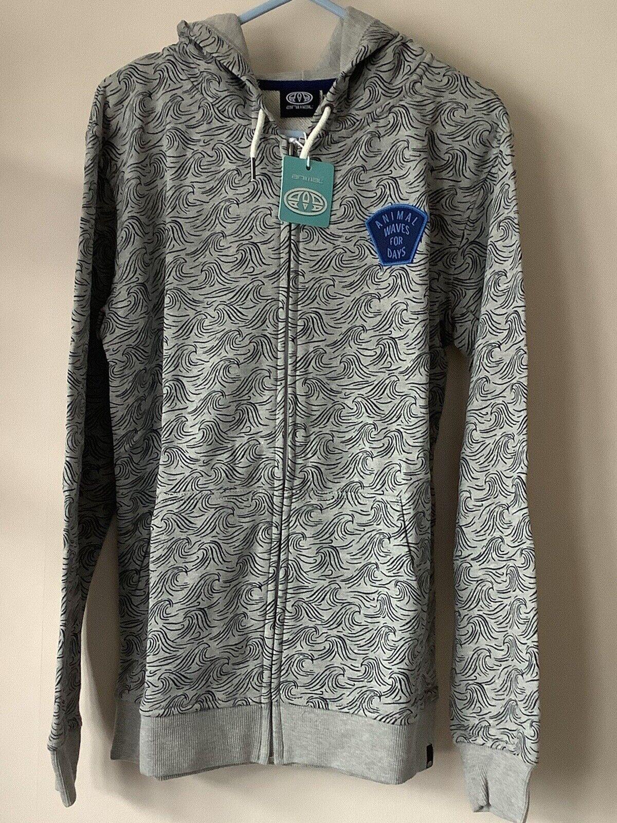 Animal New Grey Marl Seachild Zip Through Sweatshirt Jumper Top Hoodie Age 13/14