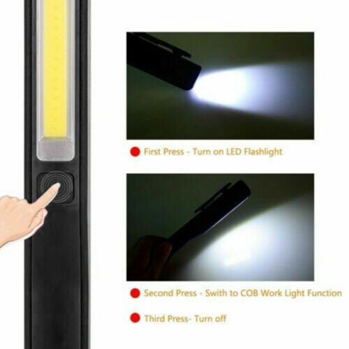 USB Rechargeable COB+LED Handheld Torch Lamp Magnetic Inspection Work Lights UK