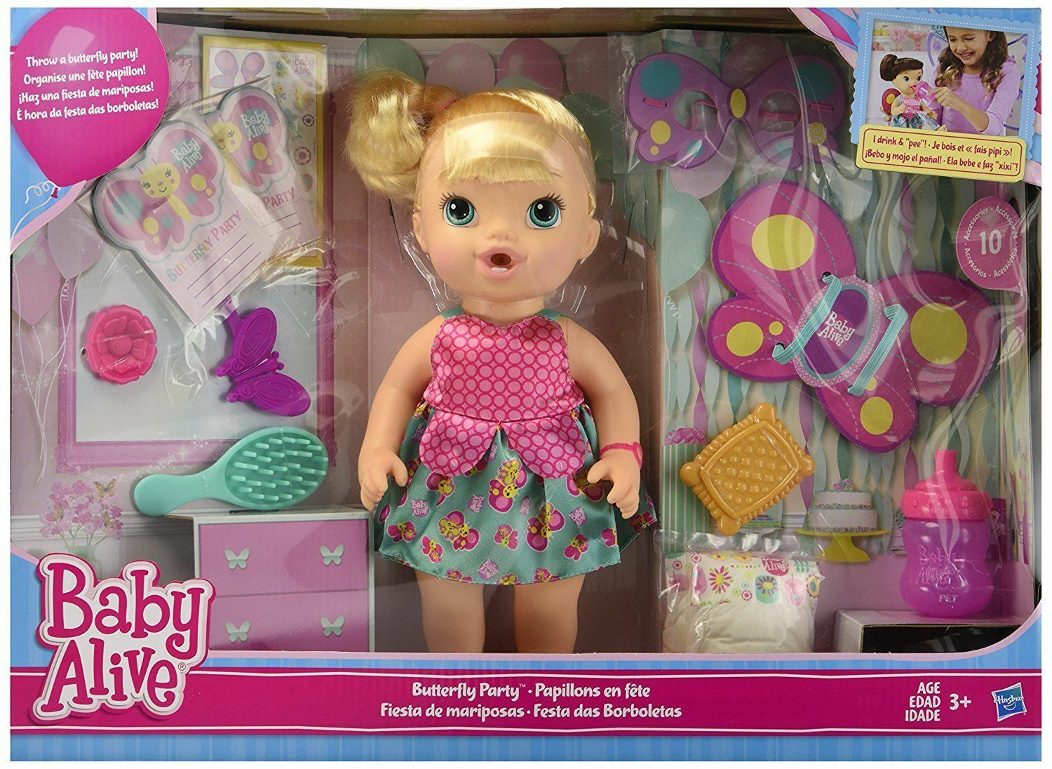 Baby Alive Dolls: Butterfly Party Blonde