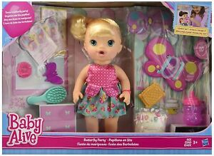 New Baby Alive Butterfly Party Set Blonde Blue Eye Doll Toys R Us