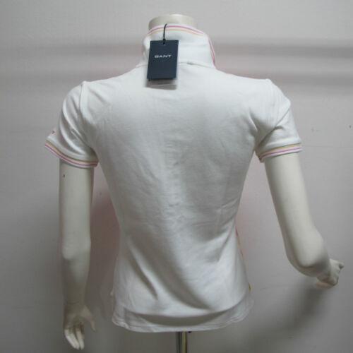 Polo bianco M Gant fuxia 407420 Art short Femme Mt Col Taille jaune OxSd4qw