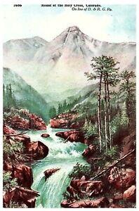 Mount-of-The-Holy-Cross-CO-Mountain-Stream-Vintage-Colorado-Postcard-1910