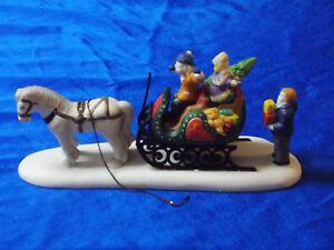 Vintage Lemax Village Collection Porcelain Loading The Gifts 73227