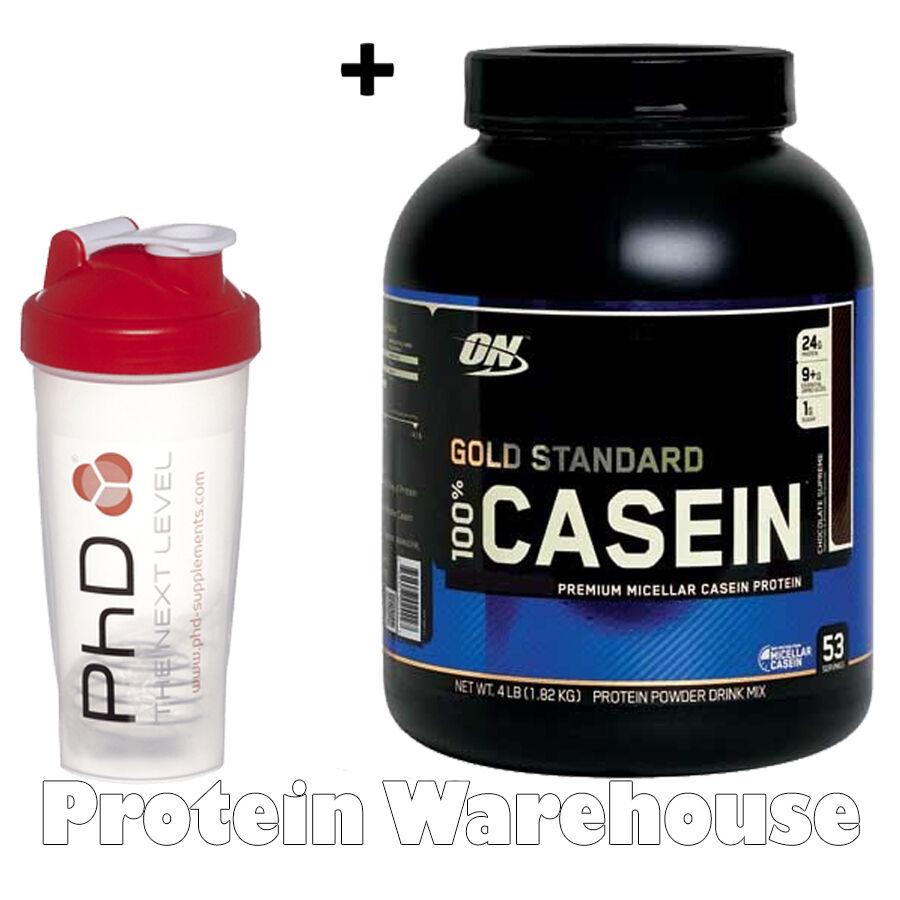 Optimum Nutrition Gold Standard 100% Casein 4lb 1.8kg + PhD Shaker
