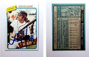 Steve-Kemp-Signed-1980-Topps-315-Card-Detroit-Tigers-Auto-Autograph