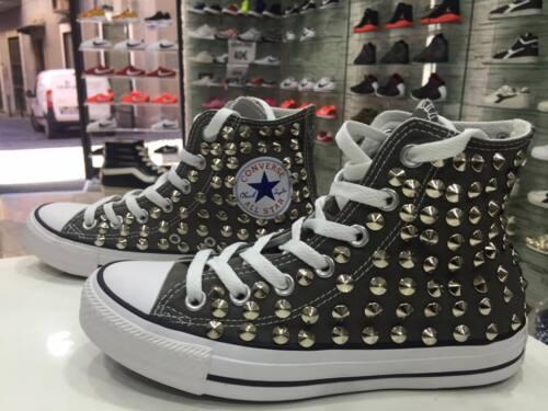 Grigie Stella Con Star Converse Borchie Charcol Logo Clean Personalizzate No All 4xHq6