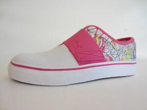 Puma cjamaica EL REY 352868 01 bianco da donna / rosa shocking Scarpe di tela