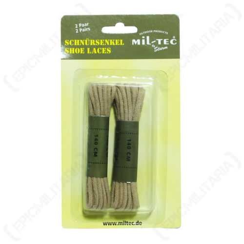 Khaki Round Walking Hiking Cotton Boot Shoelaces All Sizes Coyote SHOE LACES