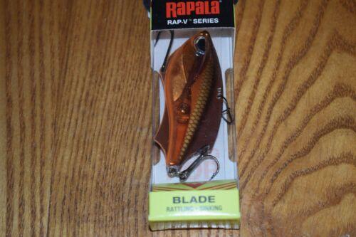 Rapala RVB-6 Rap V Blade Blade Bait Rattling Fishing Lure Molten Copper NIP