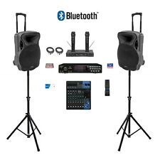 HOME PROFESSIONAL KARAOKE SYSTEM RSQ CDG MACHINE YAMAHA MIXER Bluetooth Speakers
