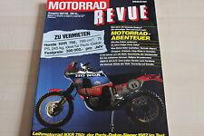 152653) Hägglund XM 72 - Honda NXR 750 Paris-Dakar - Motorrad Revue 1987