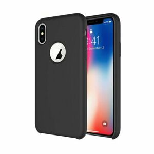 size 40 878e5 52153 Details about iPhone X XS Silicone Case Soft Touch Comfortable Grip Slim  Fit Wireless Charging