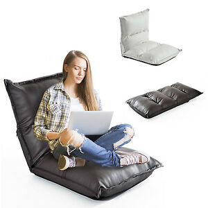 sitzkissen relaxliege liege bodenkissen stadion sitzsack verstellbar mit lehne ebay. Black Bedroom Furniture Sets. Home Design Ideas