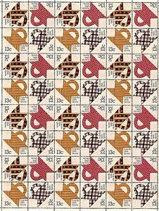 1978 - QUILTS (QUILT) - #1745-48 Full Mint -MNH- Sheet of 48 Postage Stamps