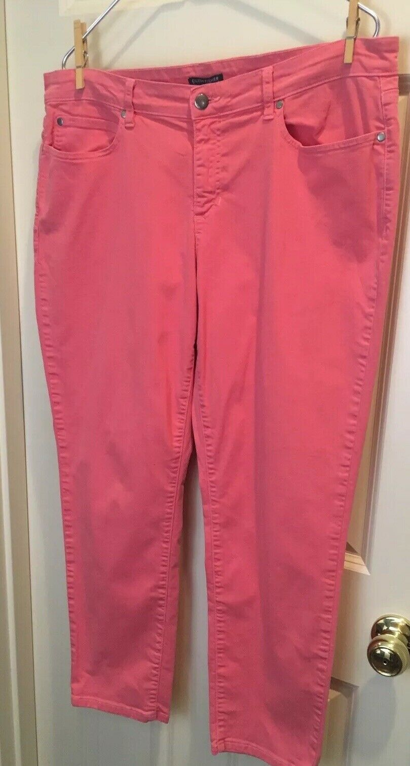 Eileen Fisher 16 XL 98% coton organique 2% Spandex melon Couleuré pantalon de Nice