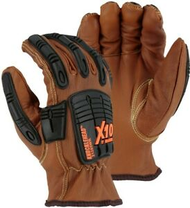 Knucklehead X10 Armor Skin Mechanics Construction Gloves-Impact Protection-ANSI