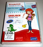 LERNSPAß MIT HEXE LILLI: GRUNDSCHULE ENGLISCH KLASSE 1 + 2 PC DEUTSCH NEU & OVP
