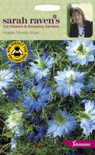 Nigella Moody Blues Sarah Raven/'s Taglio Fiori 200 Semi Johnsons