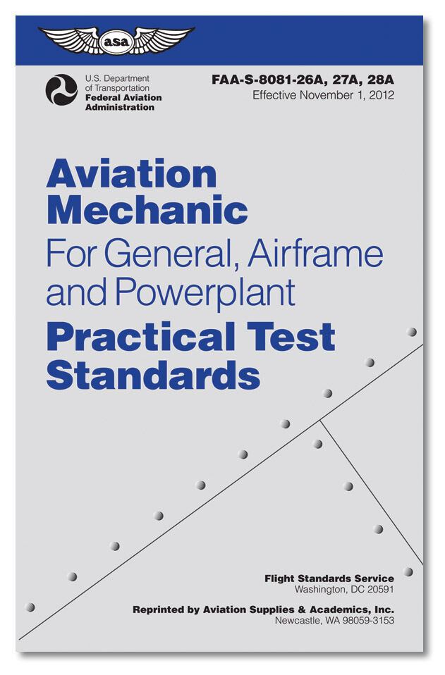 #ASA-8081-AMT-4 4th Edition ASA AMT Practical Test Standards