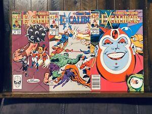 Excalibur-Comic-Lot-No-13-14-15-1999-Cross-Time-Caper-Marvel-Comics-X-Men-C2