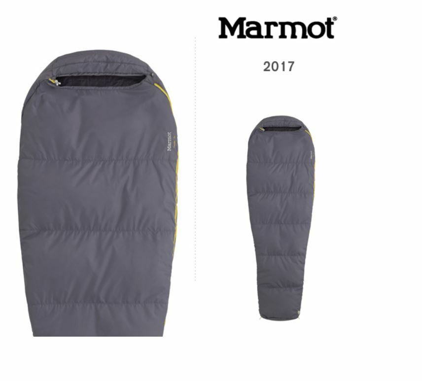 Marmot Nanowave 55 Reg sintético Saco de dormir Flint izquierda Zip