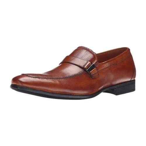 Florsheim Men/'s NEW Burbank Bit Slip On Leather Dress Shoes Brown Loafers