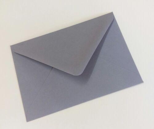 """133 X 184mm Sobres de invitación//saludo lavandera Gris 120gsm 5/""""x7/"""" Gratis P/&P"""