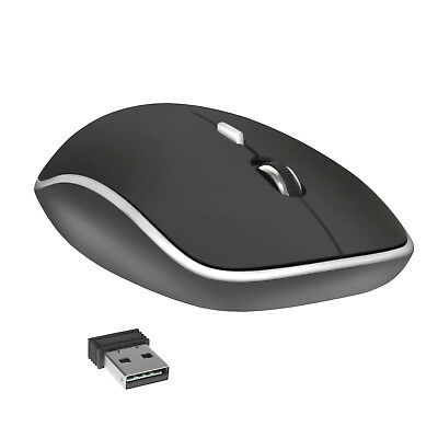 2.4GHz Wireless Cordless Optical Mouse Mice USB Receiver for PC Laptop Black