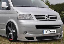 Frontansatz Frontspoiler Spoiler Schürze aus ABS inkl. Gittersatz für VW Bus T5