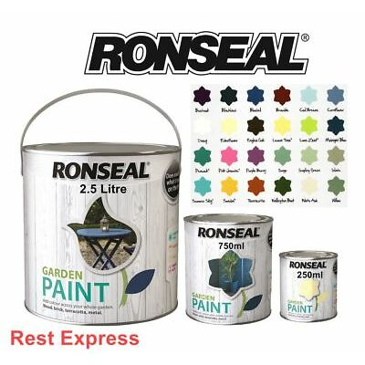 RONSEAL GARDEN PAINT 2.5 litre for Wood, Metal, Brick, Shed & Fence 2.5L