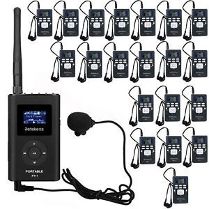 Retekess 5CH Wireless Tour Guide System 1*Transmitter+20*Receiver for Meeting