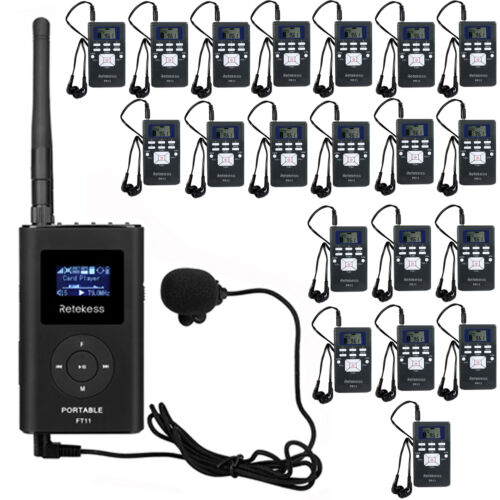 Wireless Tour Guide System for Church//Meeting FM Transmitter+20*Receiver