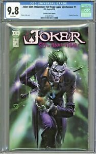 Joker 80th Anniversary Super 1 CGC 9.8 Scorpion Comics Edition Crain Cover 2500