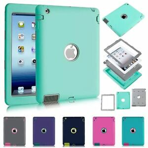 iPad-2-3-4-Air-2-Pro-9-7-amp-MINI-Defender-Case-Hybrid-Tough-Shockproof-Cover