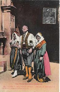 Cpa Les vieux costumes pyrénéens - Vallée de Bethmale Ariége