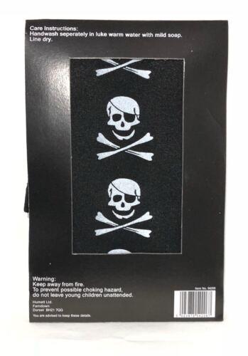 Tights Skeleton Pirate Boo Black Print Halloween Women/'s Fancy Dress Accessory