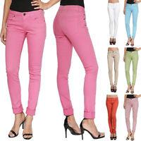 TheMogan Women's Juniors Basic Colored Low Rise Stretch Denim Skinny Jeans