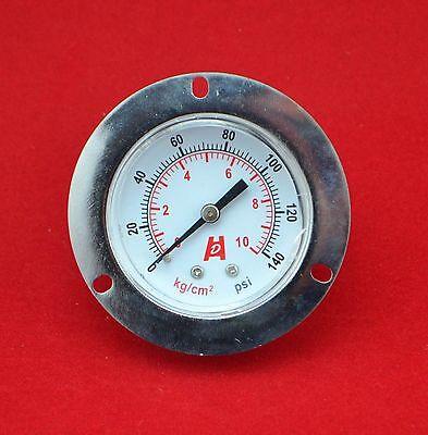 """manometer PT1//4/"""",back with front flange 2/"""" 50mm 140psi 10bar  pressure gauge"""
