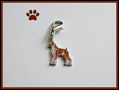 BOXER STANDING BREED DANGLE PENDANT CHARM BRACELETS FLOATING  LOCKETS