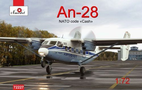 Amodel 1 72 Antonov An-28 NATO Code  Cash  Aeroflot 'bluee'