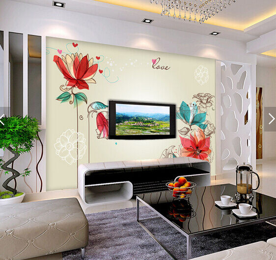 3D ROT Lotus Painted 64 Paper Wall Print Wall Decal Wall Deco Indoor Murals