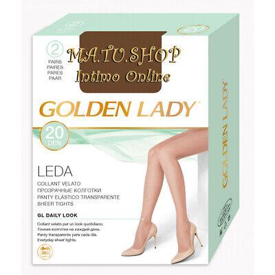 COLLANT GOLDEN LADY LEDA 20 DENARI 10 PAIA FILANCA CRESPATI