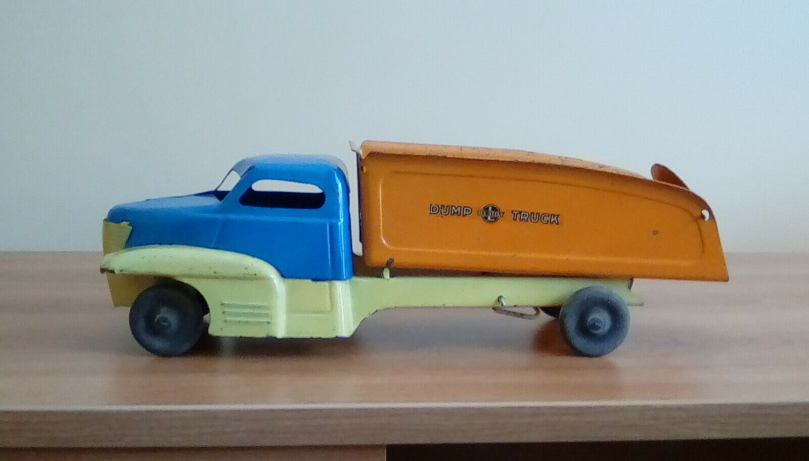 Vintage Buddy L Large Pressed Steel Dump Truck 1940's with Logo